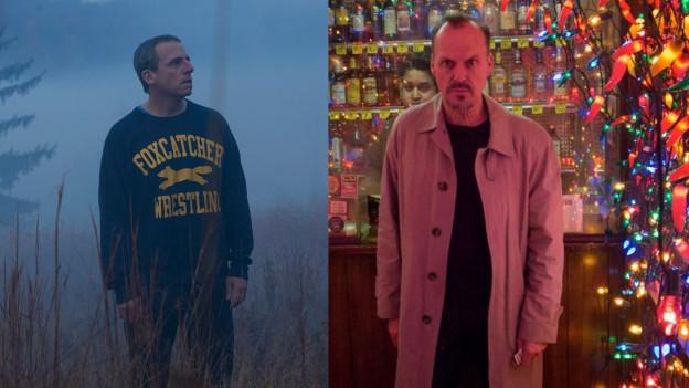 Sie sind beide für den Hauptdarsteller-Oscar nominiert: Steve Carell (links) und Michael Keaton.