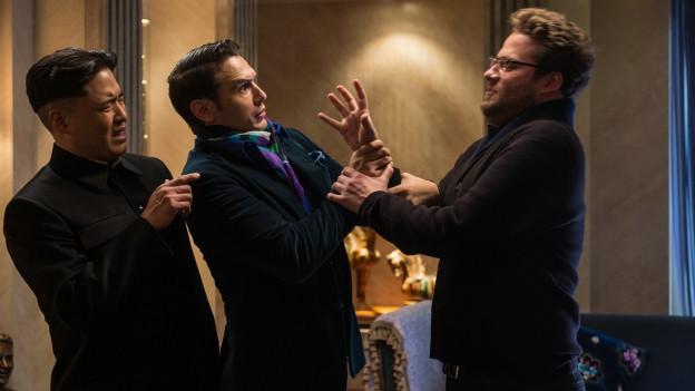 Kim Jong-Un (Randall Park) empfängt Dave (James Franco) und Aaron (Seth Rogen).