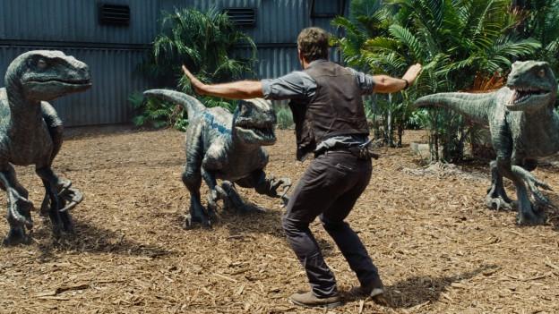 Held Owen (Chris Pratt) hat seine Lieblinge (manchmal) im Griff.