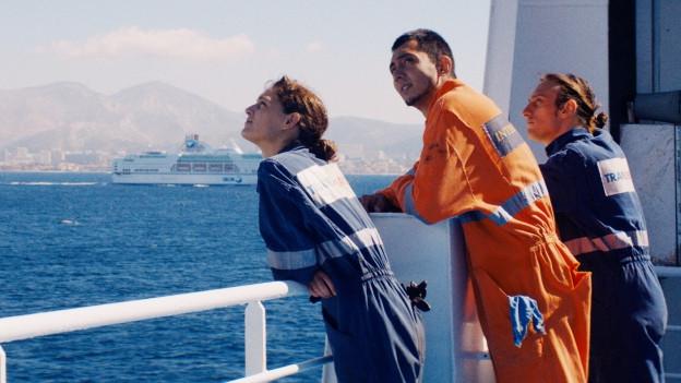Die Schiffsingenieurin Alice (Ariane Labed) arbeitet als einzige Frau auf dem Frachter Fidelio.