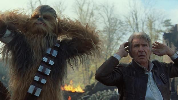 Die alten Helden sind zurück: Chewbacca (Peter Mayhew) und Han Solo (Harrison Ford).