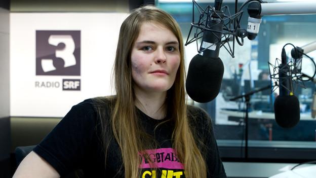 Philosophiestudentin und Slampoetry-Schweizermeisterin: Hazel Brugger.