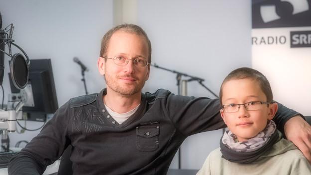 Karsten Blum und sein Sohn Cédric.