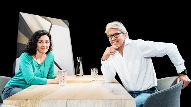 Delia Mayer und Bernhard Russi