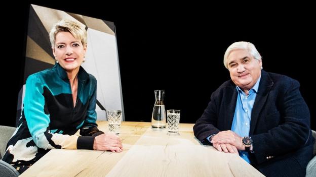 Karin Keller-Sutter und Jacky Donatz
