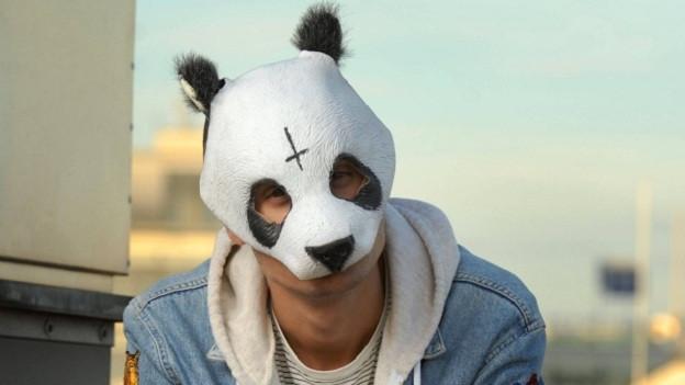 Ohne Pandamaske geht bei ihm gar nix.