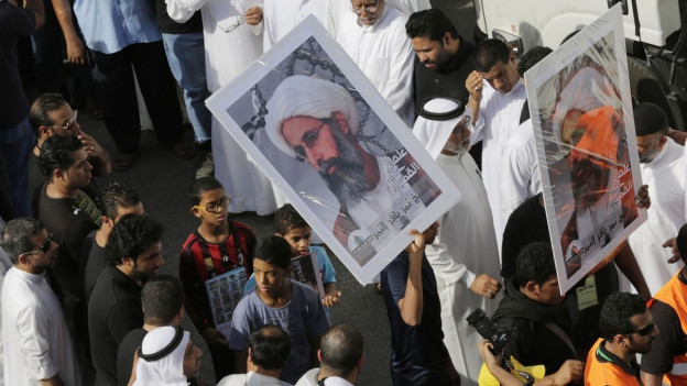 Demonstranten beklagen den Tod von Nimr al Nimr