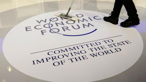 Szene am WEF 2016