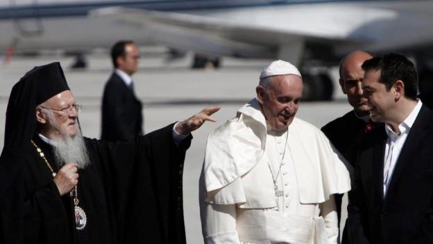 Papst Franziskus auf Lesbos