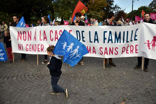 Rechtskonsvervative gingen für ihre Werte in Paris auf die Strasse.