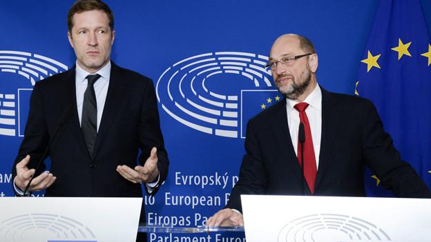 Paul Magnette und Martin Schulz