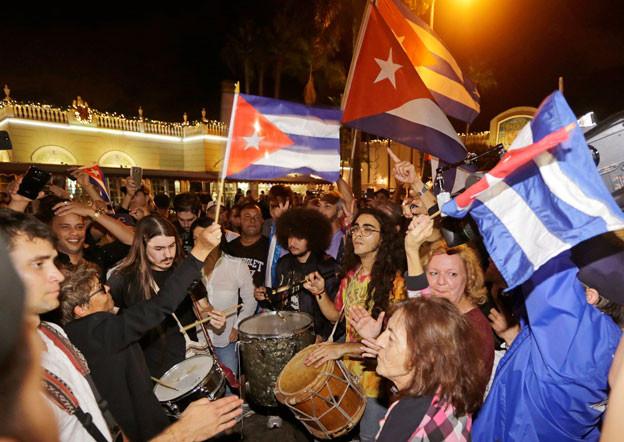 Der Tod Fidel Castros löste bei den Exil-Kubanern in Miami Freude aus.