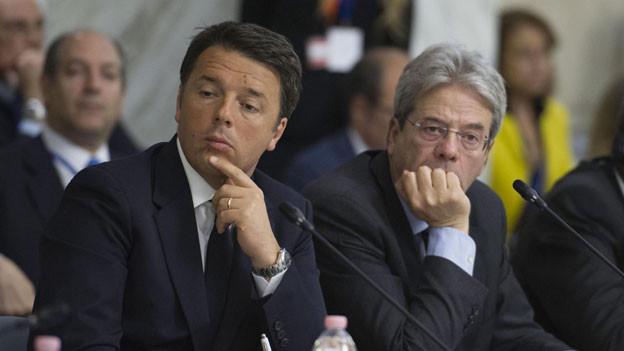 Matteo Renzi und Paolo Gentiloni