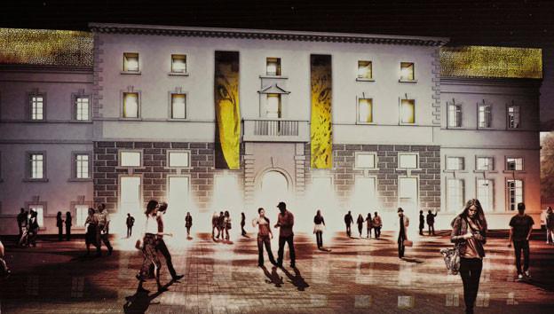 Vom Computerbild zur Realität: Der Palazzo del Cinema in Locarno ist rechtzeitig zum Start des Filmfestivals eröffnet worden.