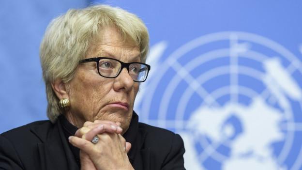 Carla del Ponte will nicht mehr für die syrische Untersuchungskommission arbeiten.