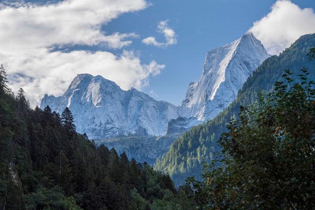 Vom Piz Cengalo im Bergell lösten sich erneut Gesteinsmassen, jedoch ohne Schäden anzurichten.