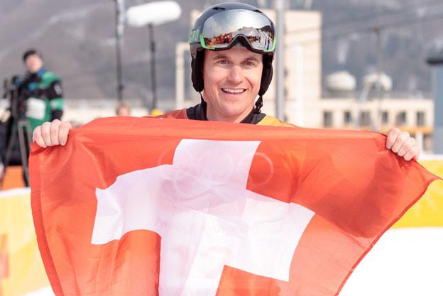Schweizer Athletinnen und Athleten - hier Nevin Galmarini - sind auf gutem Weg, in PyeongChang einen neuen Olympia-Medaillen-Rekord aufzustellen.