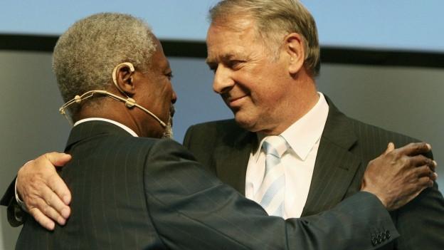 Kofi Annan und Adolf Ogi