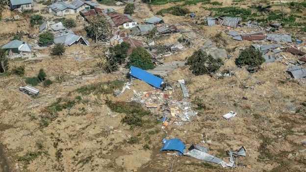 Die indonesische Stadt Palu wurde vom Erdbeben und vom nachfolgenden Tsunami zu grossen Teilen zerstört.
