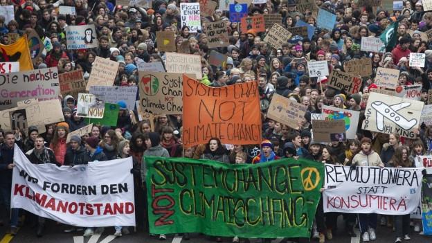 Klimaprotest am 2. Februar in Bern