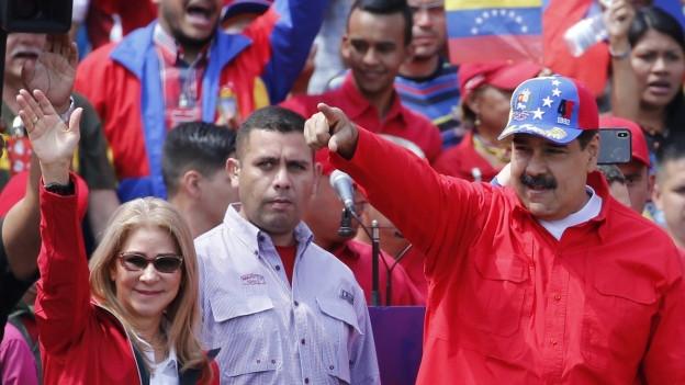 Nicolas Maduro am 2. Februar an einer Kundgebung