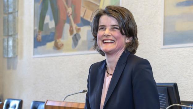 Die neu gewählte SP-Regierungsrätin Kathrin Schweizer.