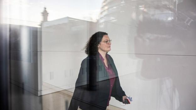 Sie geht: SPD-Chefin Andrea Nahles