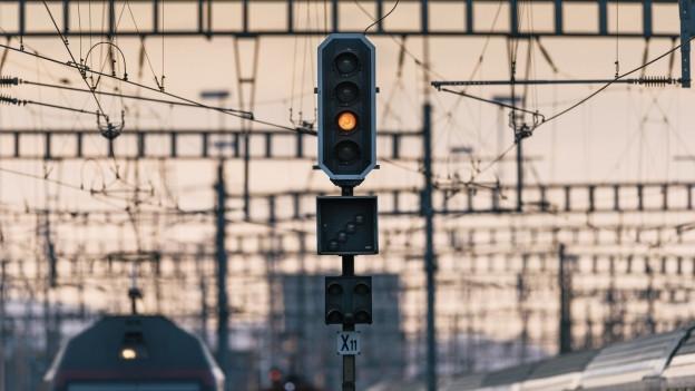 SBB-Signal an einer Bahnstrecke