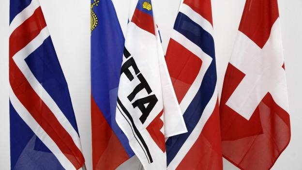 Die EFTA-Flaggen