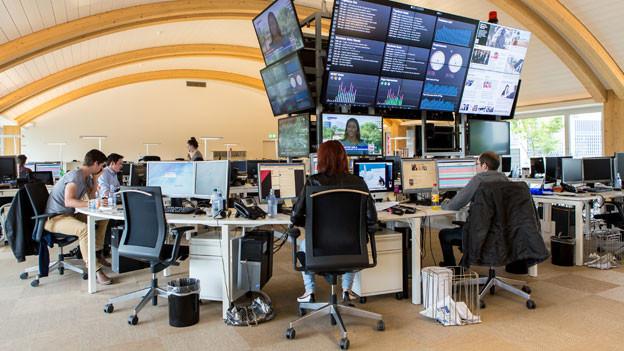 Modernes Grossraumbüro: Die 20-Minuten-Redaktion.