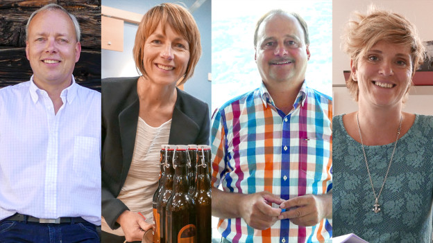 Geben dem Wallis ein Gesicht: Francesco Walter, Maya Belzer, Georges Schnydrig und Judith Kreuzer (v.l.n.r.)
