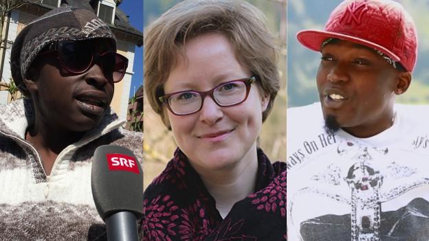 Von links: Namu, Julia und Wayne.
