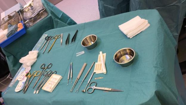 Besteck für die Schönheits-Operation