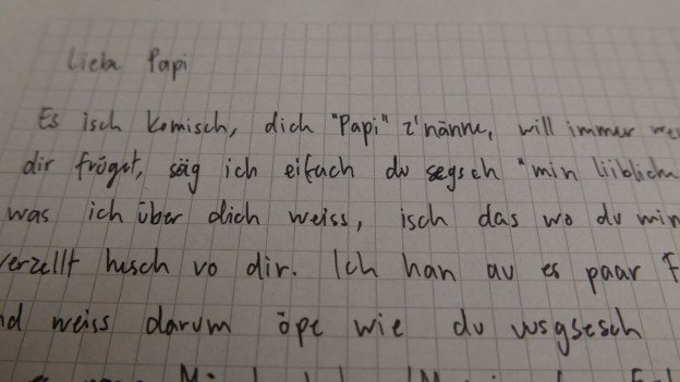 Gaëlle hofft, dass ihr Vater diesen Brief eines Tages lesen wird.