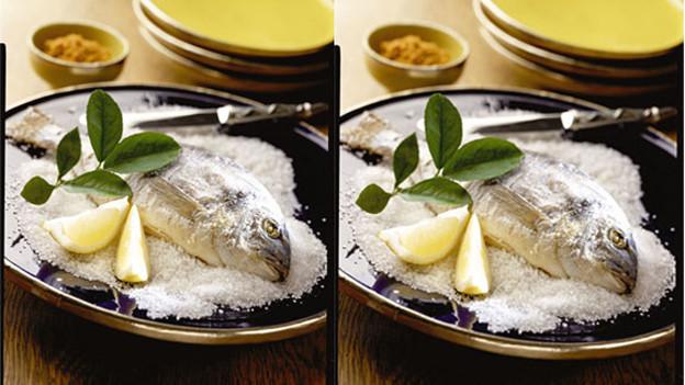 Fisch in der Salzkruste.