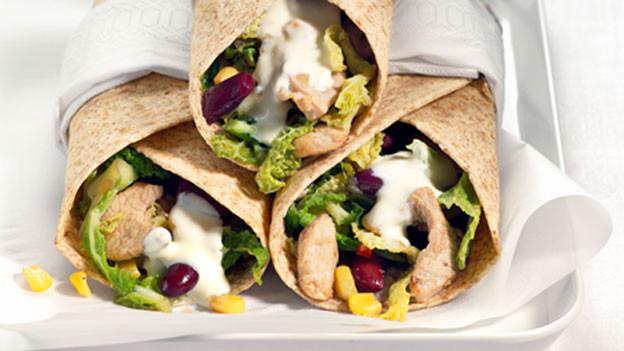 Gelungene Alternative zum Sandwich: das Pouletwrap.