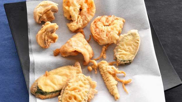 Küchenkunst aus dem Land der aufgehenden Sonne: Tempura-Häppchen.