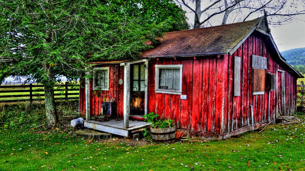 Das rote Haus.