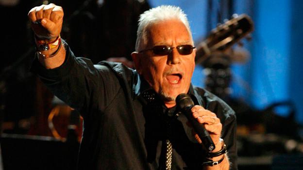 Eric Burdon in der Rock and Roll Hall of Fame im Jahr 2010.