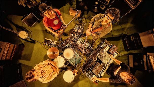Dub-Cowboys im Studio.