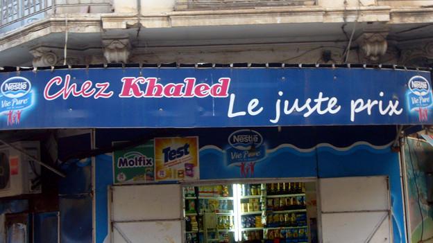 Krämerladen in Oran, der Geburtsstadt des Raï - mit illustrem Namen