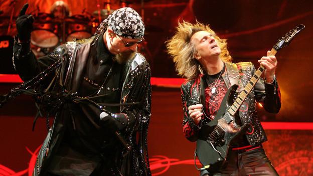 Judas Priest auf der Bühne.