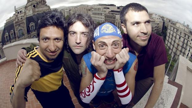 Ein Quartett, bestehend aus zwei Kolumbianern und zwei Argentiniern: Che Sudaka.