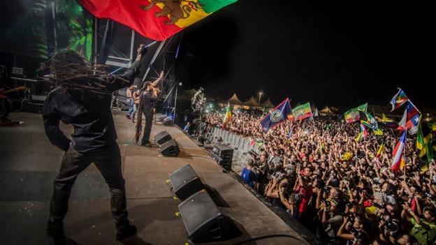 Rototom Sunsplash - das grösste Reggae Festival Europas findet in Benicassim, Spanien statt
