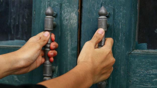 Verschlossene Türe