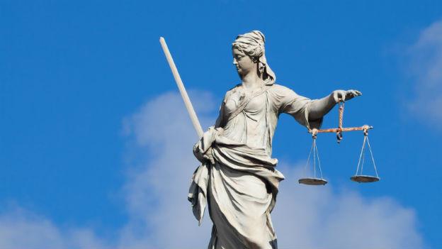 Justitia, die personifizierte Gerechtigkeit
