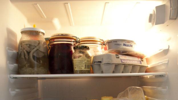 Einblick in einen Kühlschrank