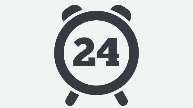 Wecker mit der Zahl 24