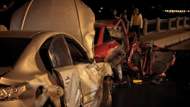 Verkehrsunfall in der Nacht