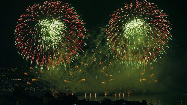 Feuerwerk beim Zürifest 2013.